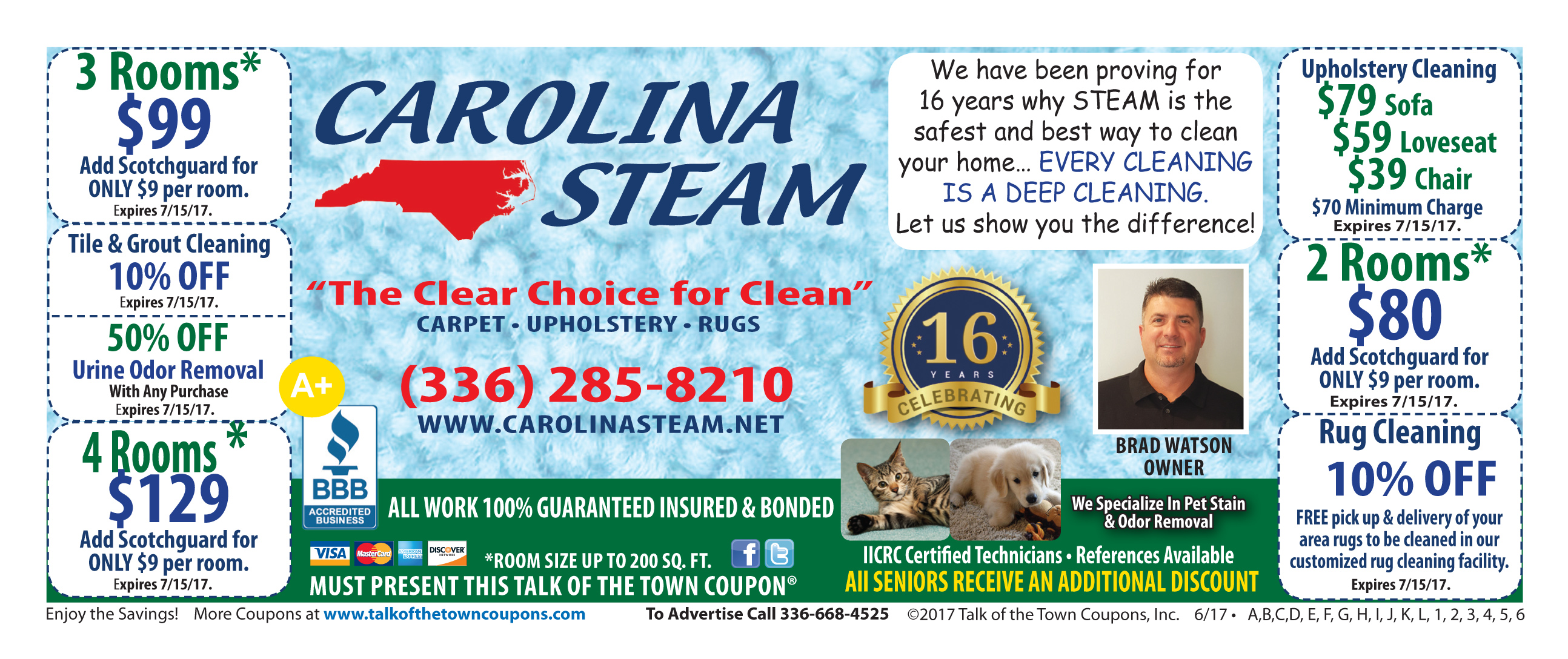 Carolina Steam Booklet Offer Coupon image