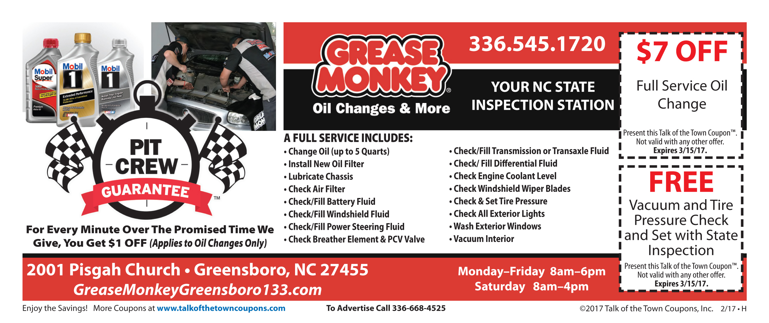 Grease Monkey Booklet Offer Image