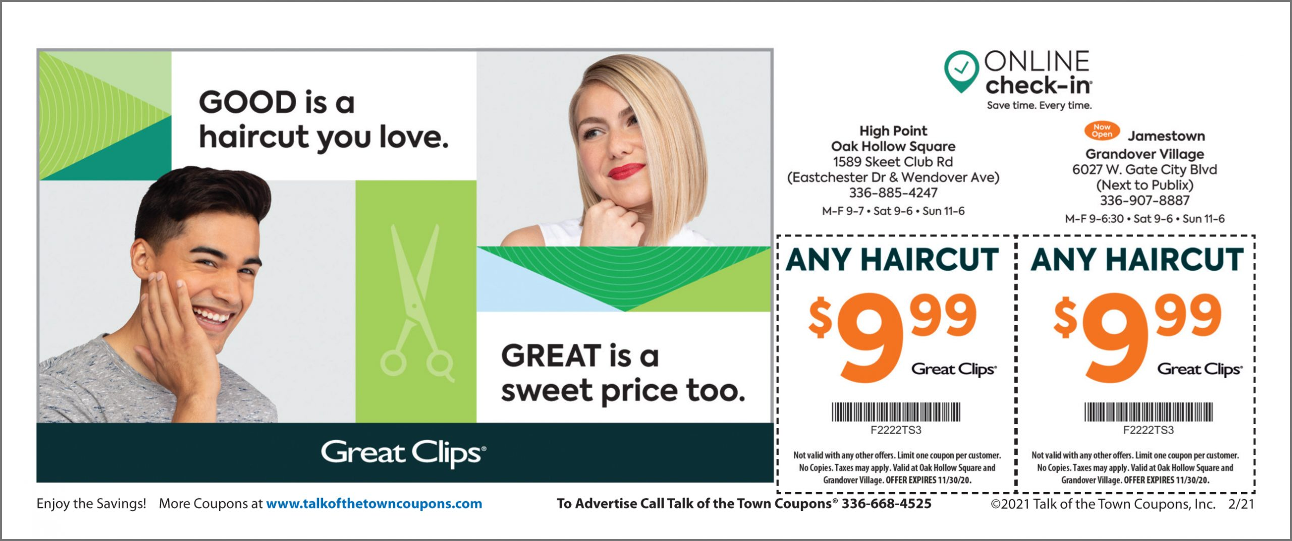 Great Clips FEB2021 Coupons