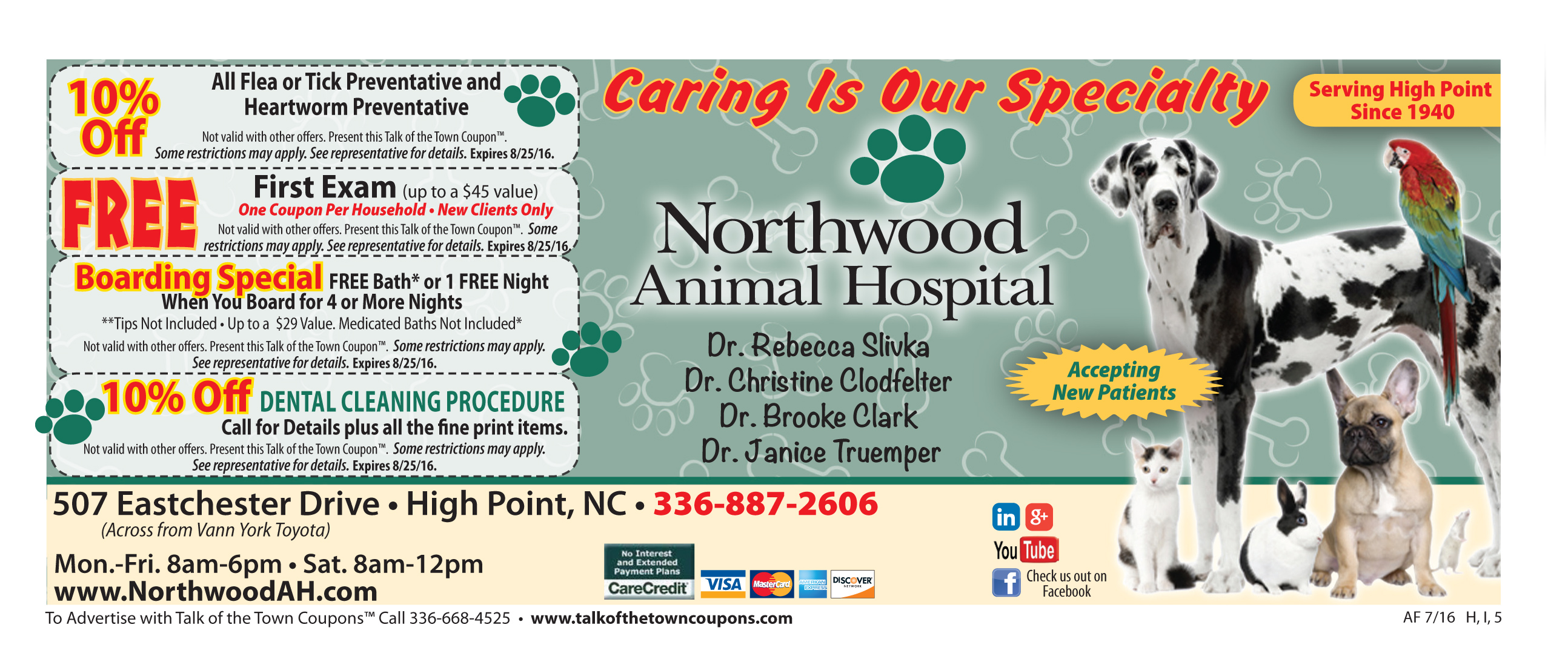Northwood Animal Hospital Offer