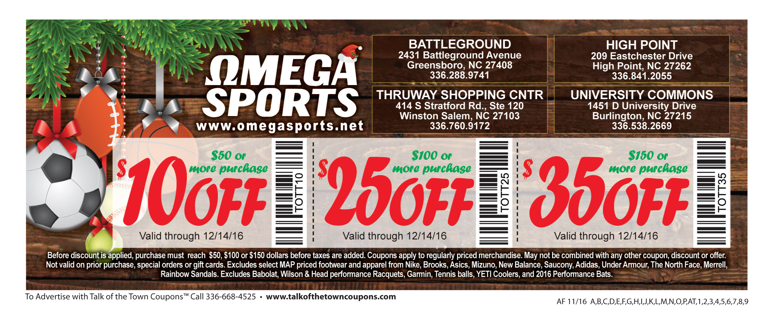 Omega Sports Booklet Offer Image
