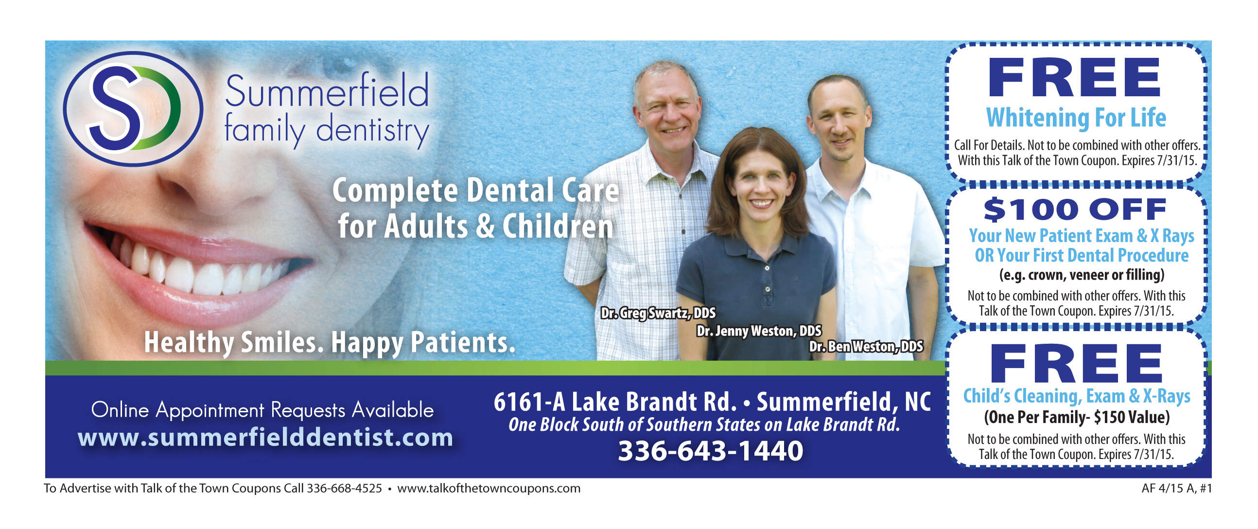 Summerfield Dentistry Booklet Offer Image